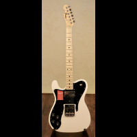 Left Handed MIJ Fender Traditional 70's Custom Telecaster In Arctic White With Fender Gig Bag