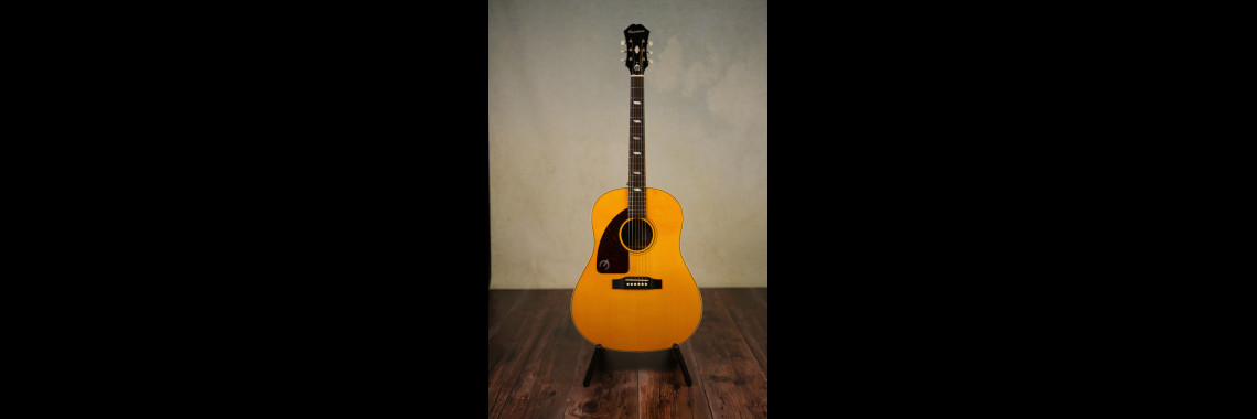 Left Handed Epiphone Inspired By 1964 Texan Acoustic Guitar