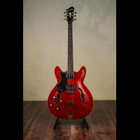 Hagstrom Viking Wild Cherry With OHSC (Brand New)